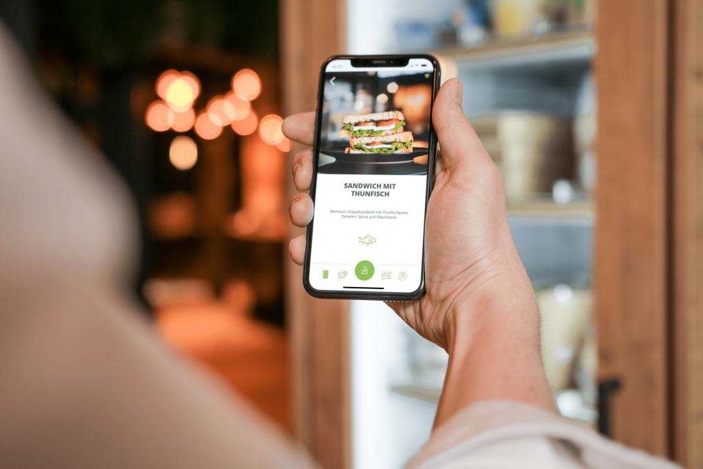 Essensautomat mit Smartphone